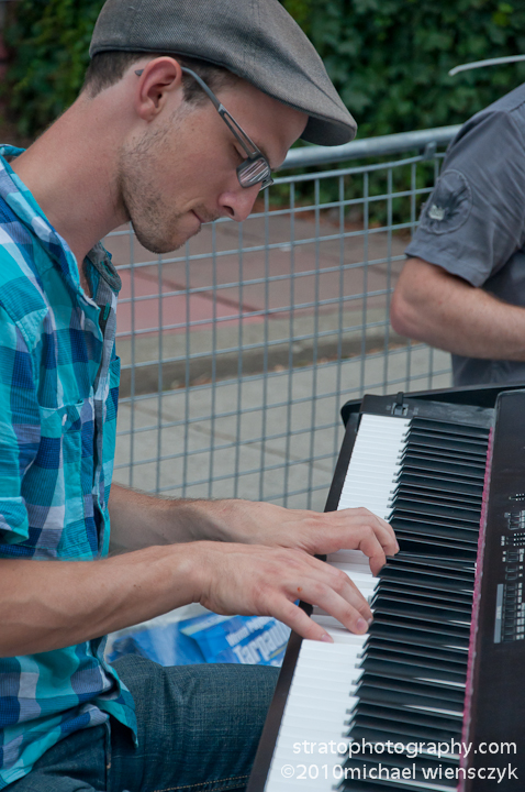 Keyboardist at the Jazz Festival