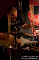 motion blurry drummer